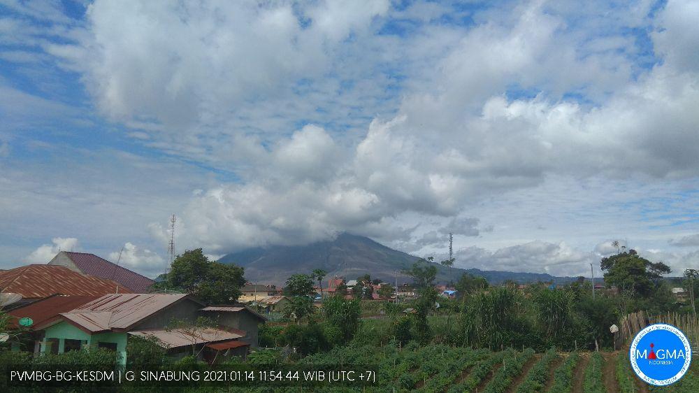 Sinabung, Kamis - 14 Januari 2021